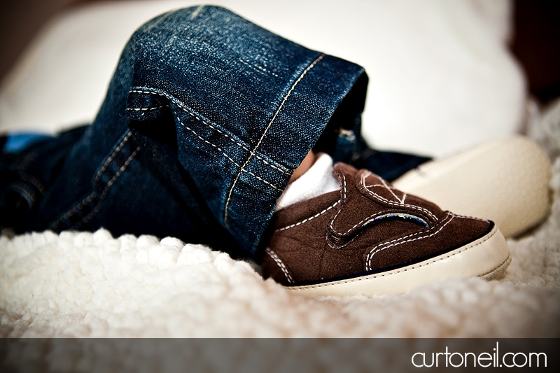 Cooper - Infant - Two months old - awesome shoes