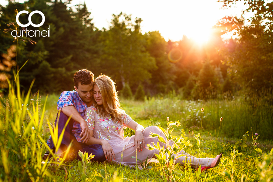 Sault Ste Marie Engagement Phtotography - Aimee and Greg - sneak peek at Mockingbird Hill Farm at sunset