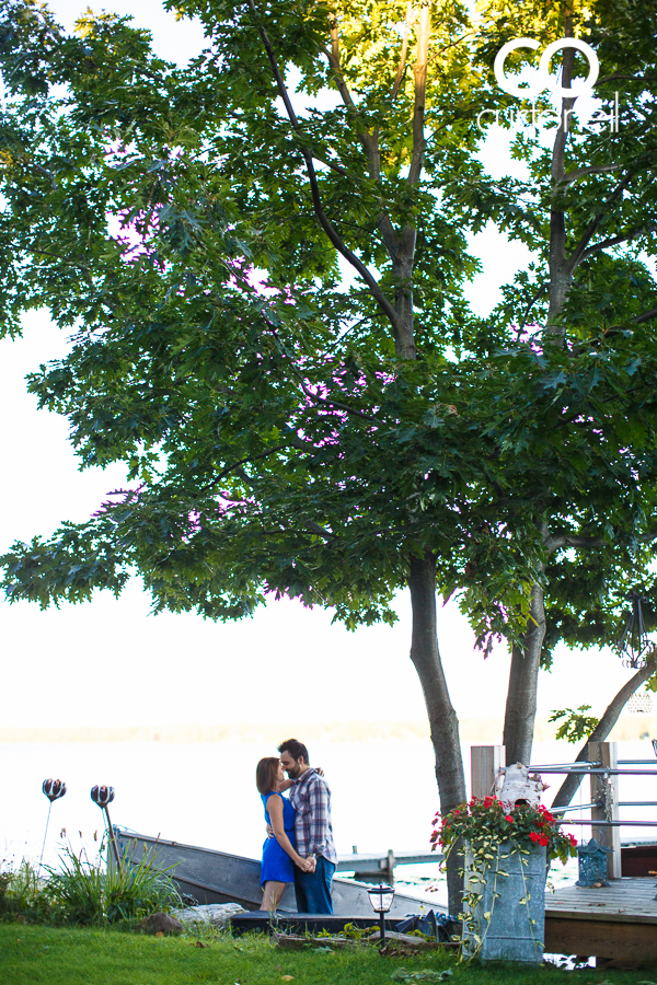 Sault Ste Marie Engagement Photography - Amber and Anthony - summer, beach, tress, Pointe Des Chenes