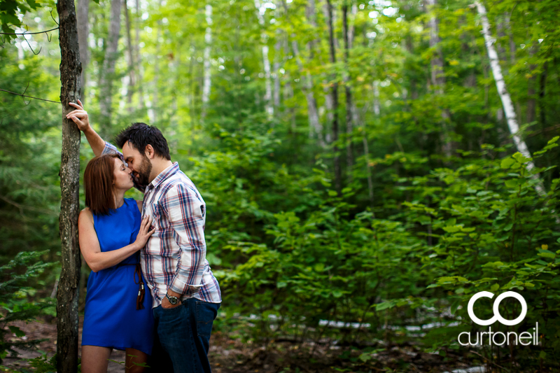 Sault Ste Marie Engagement Photography - Amber and Anthony - sneak peek, summer, trees
