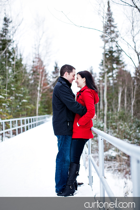Sault Ste Marie Engagement Photography - Ange and Steve - Fort Creek, winter, cold