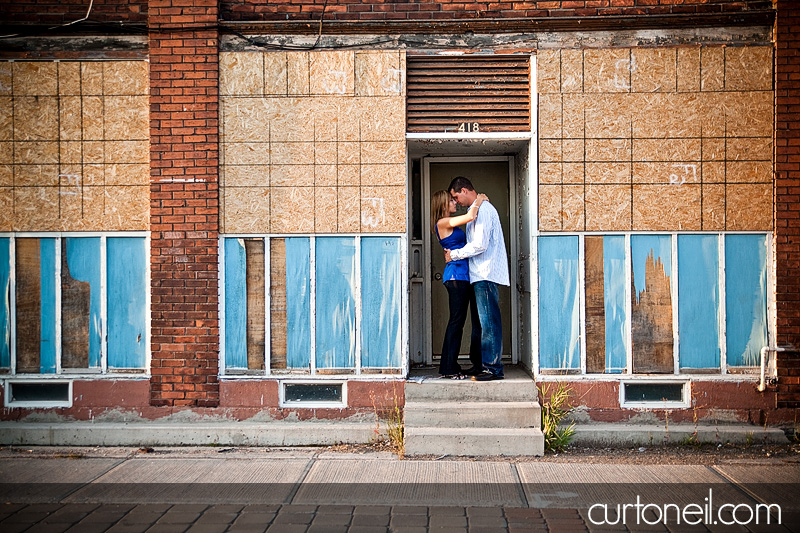 Abandoned building sault engagement photography