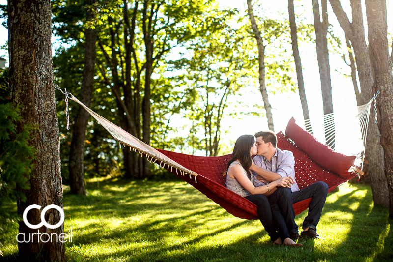 Sault Ste Marie Engagement Photography - Brianna and Josh - Redrock, hammock, summer, sneak peek