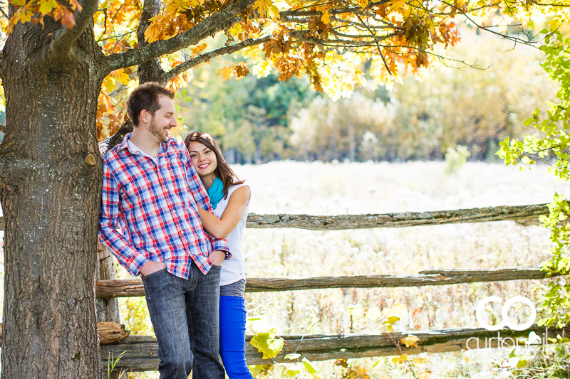 Sault Ste Marie Engagement Photography - Candace and Ryan - fall engagement session, canoe, Thessalon