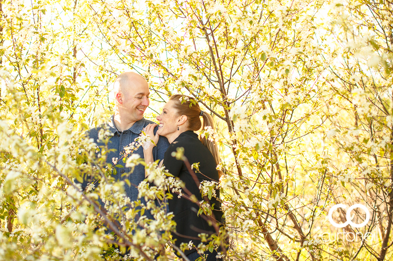 Sault Ste Marie Engagement Session - Crystal and Matt - Pointe Des Chene, trees, beach, summer
