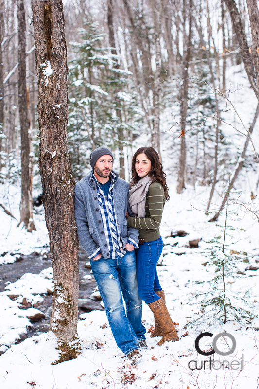 Sault Ste Marie Engagement Photography - Dawn and Tyler - winter, Crimson Ridge, cold