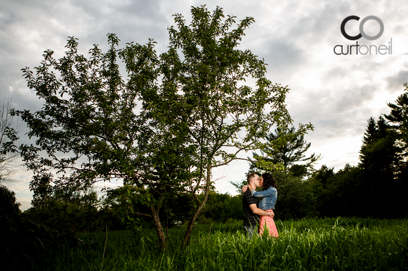 Sault Ste Marie Engagement Photography - Janey and Josh - tall tree, Garden River, summer, sneak peek