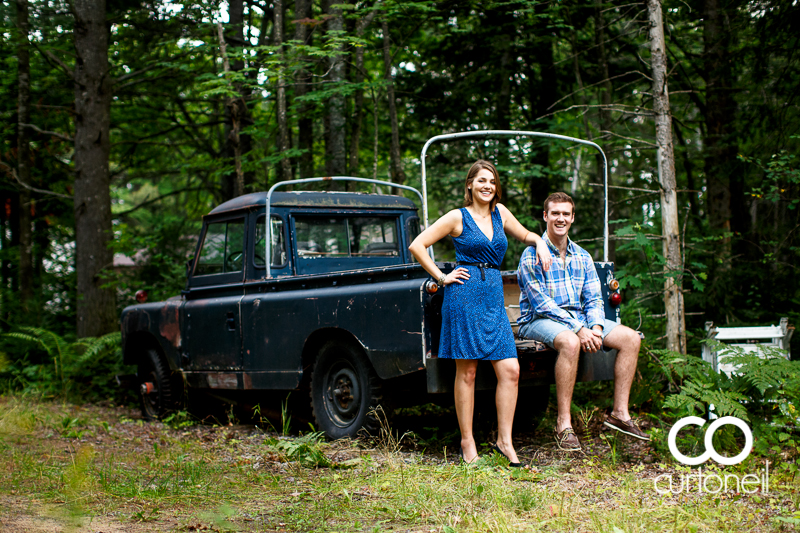 Sault Ste Marie Engagement Photography - Joanna and Adam - summer, landrover, Mill Square, night