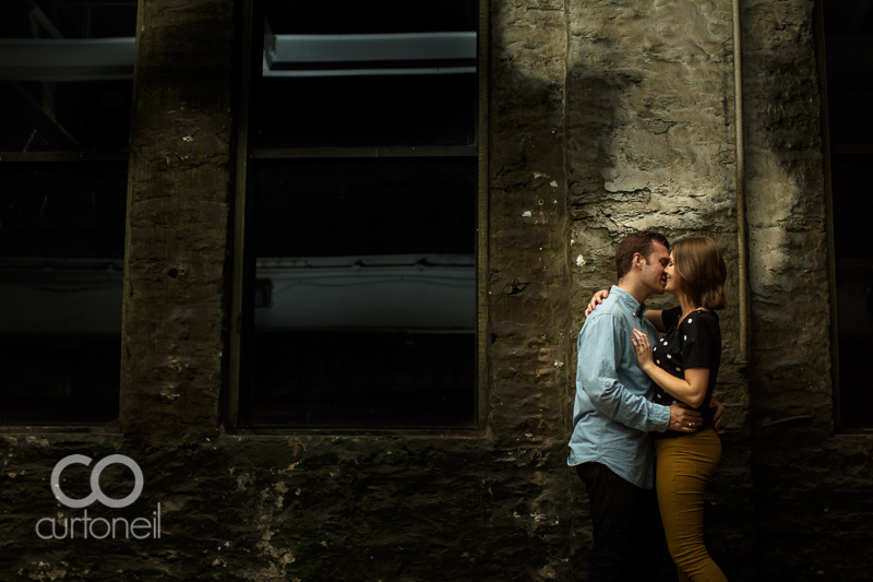 Sault Ste Marie Engagement Photography - Joanna and Adam - sneak peek, night, Mill Square, St. Mary