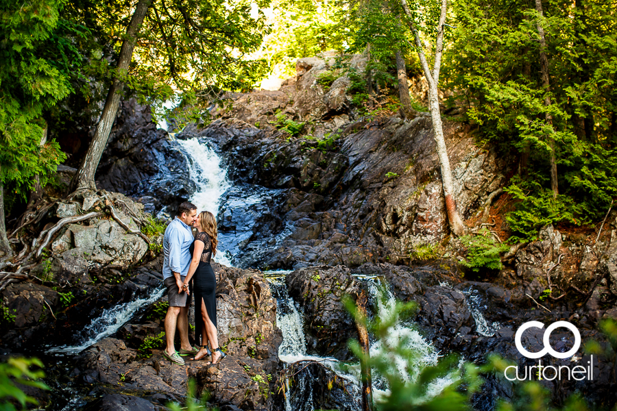 Sault Ste Marie Engagement Photography - Johanna and RJ - sneak peek at the falls at Hiawatha