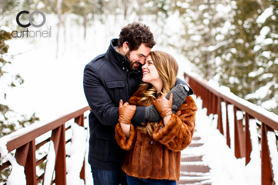 Sault Ste Marie Engagement Photography - Katey and Aaron - sneak peek, Fort Creek, winter