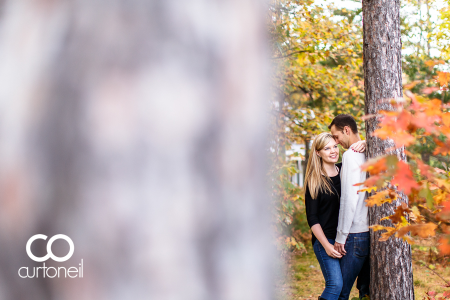 Sault Ste Marie Engagement Photography - Katie and Robbie - Pine Island, fall, haunted, Checy truck