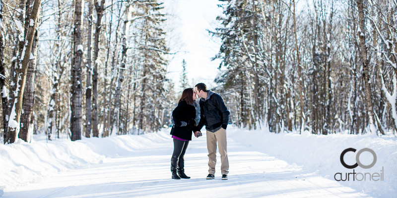 Sault Ste Marie Engagement Photography - Kendra and Chris - winter, snow, cold, Wishart Park