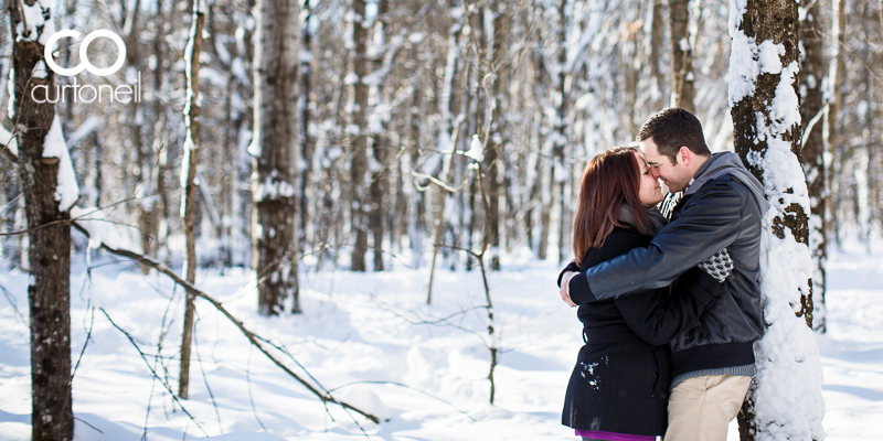 Sault Ste Marie Engagement Photography - Kendra and Chris - cold, winter, sneak peek, Wishart Park