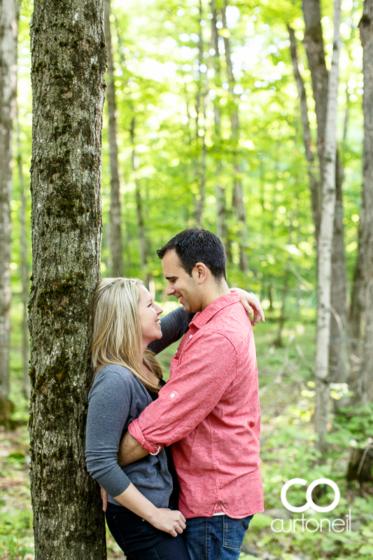 Sault Ste Marie Engagement Photography - Kylie and Brian - St. Joseph Island, camp, creepy cabin, mystery animal