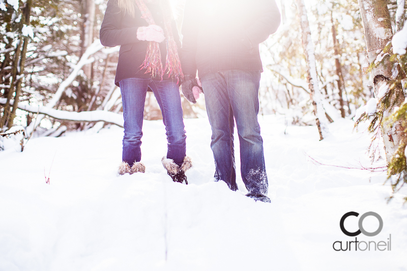 Sault Ste Marie Engagement Photographer - Leah and Ryan - St. Joseph Island, winter, snow, cold