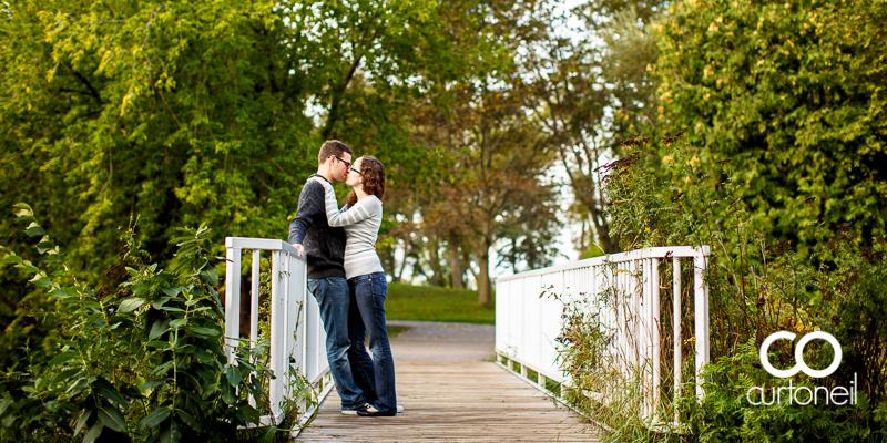 Sault Ste Marie Engagement Photography - Maria and Chris - sneak peek, Bellevue Park, bridge
