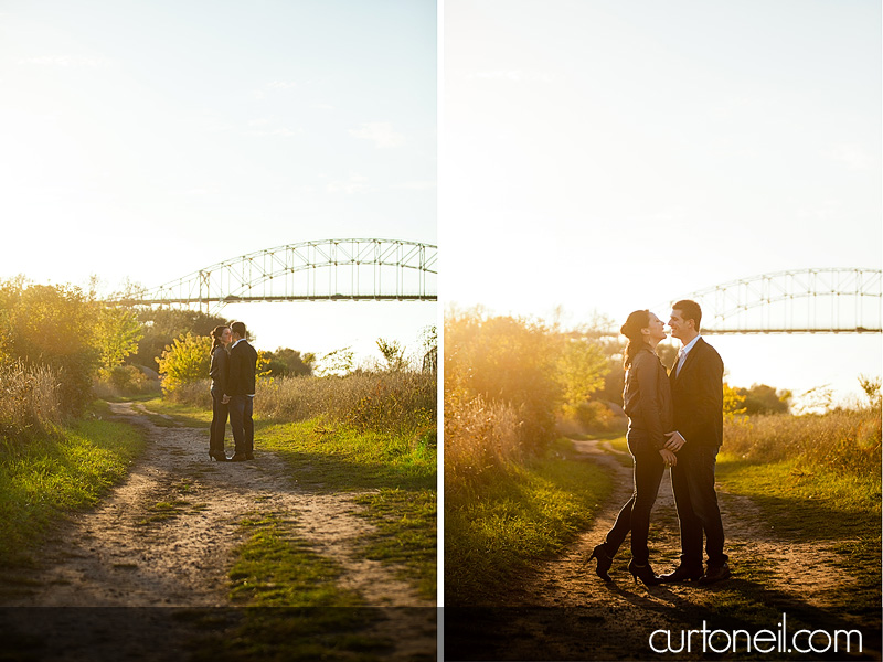 Sault Ste Marie Engagement Photography - May and Mark - Soo Locks engagement session
