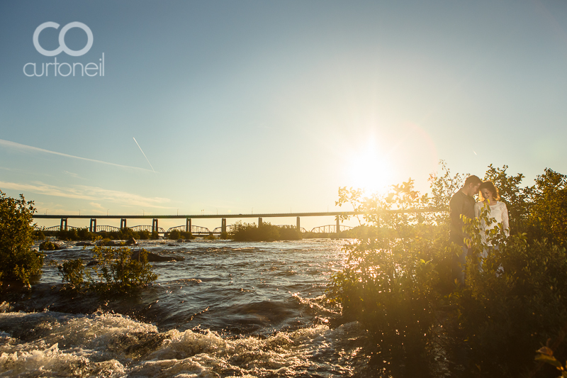 Sault Ste Marie Engagement Photography - Melisa and Jonathan - sneak peek, Whitefish Island, St. Mary's Rapids, summer
