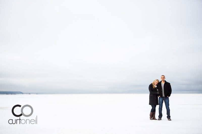 Sault Ste Marie Engagement Photography - Rachel and James - winter, cold, ice
