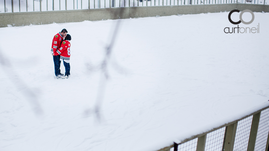 Sault Ste Marie Engagement Photography - Rebecca and Ryan - sneak peek, winter, Esposito Park, outdoor rink