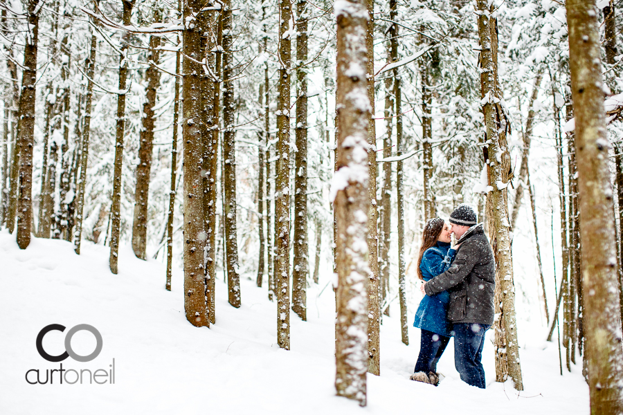 Sault Ste Marie Engagement Photography - Sara and Alex - fort creek, winter, sneak peek, engagement