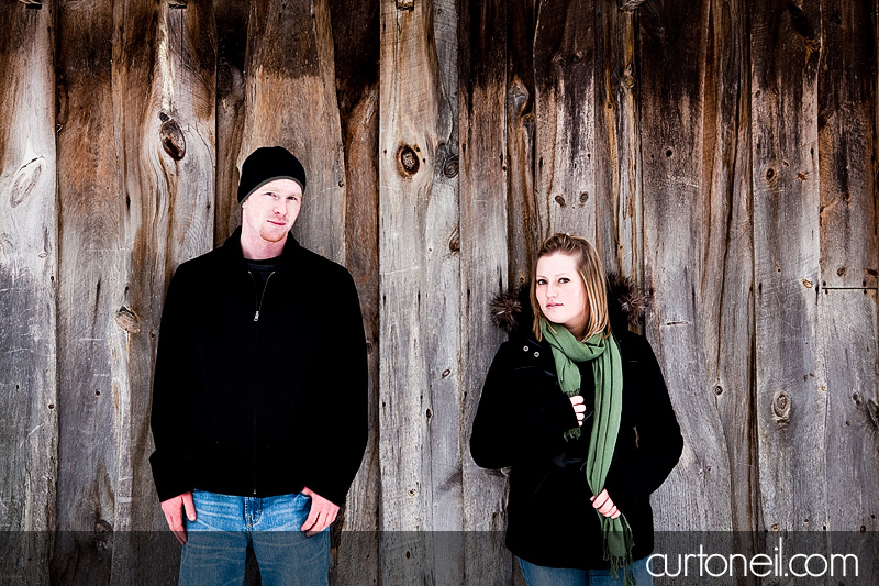 Sault Ste Marie Engagement Photos - Steph and Deryl - winter