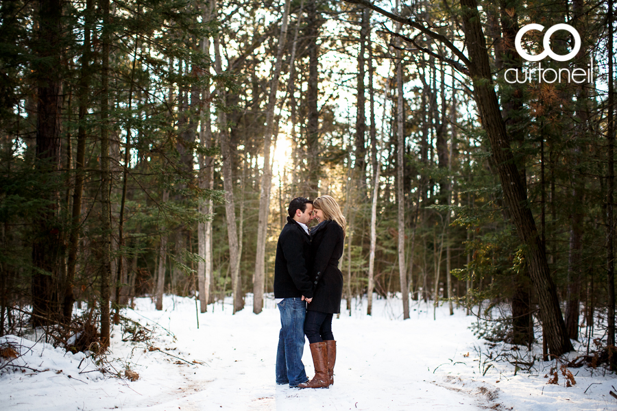 Sault Ste Marie Engagement Photography - Shelley and Nick - winter, trees, path, cold, sneak peek