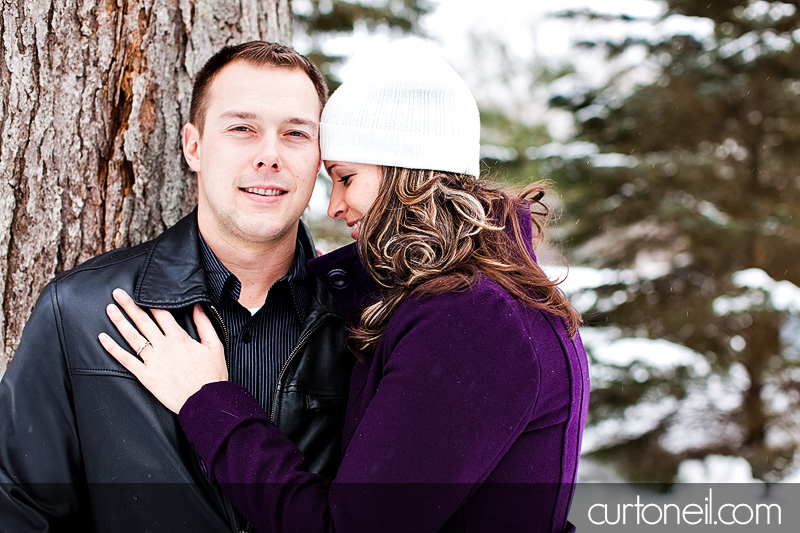 Sault Ste Marie Engagement Photography - Steph and Matt - cold winter photos