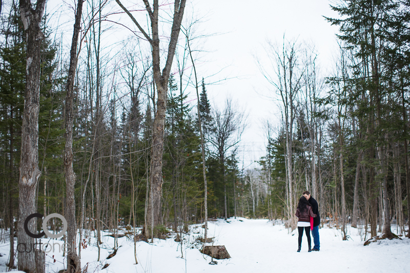 Sault Ste Marie Engagement Photography - Stacey and  Jon - winter, cold, hub trail