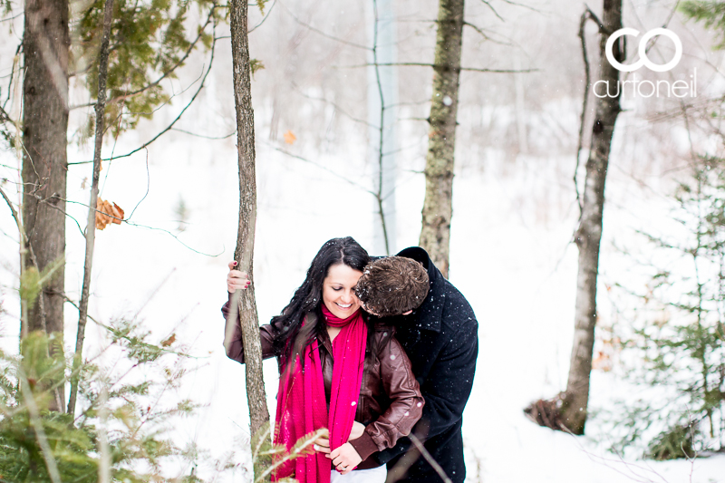 Sault Ste Marie Engagement Photography - Stacey and Jon - sneak peek, winter, cold, snow, hub trail