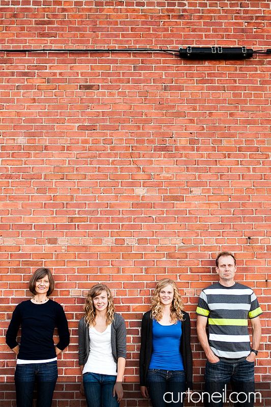 Sault Ste Marie Family Photography - Brain Family - sneak peek with orange brick