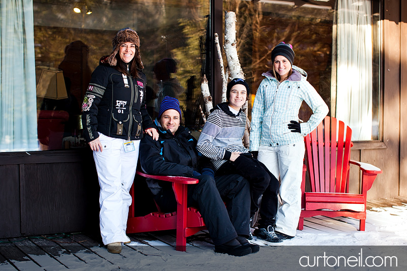 Sault Ste Marie Family Photography - Caicco Family Sneak peek at Searchmont Ski Resort on a very cold day