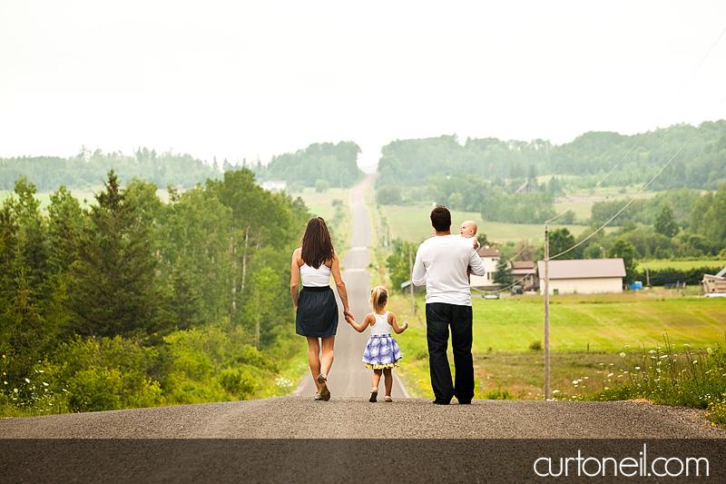 Sault Ste Marie Family Photography - Jarrett Family sneak peek, on country road