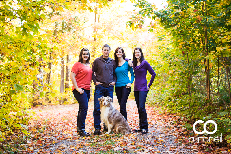 Sault Ste Marie Family Photography - Sinibaldi Family - sneak peek on St. Joseph Island at Thanksgiving