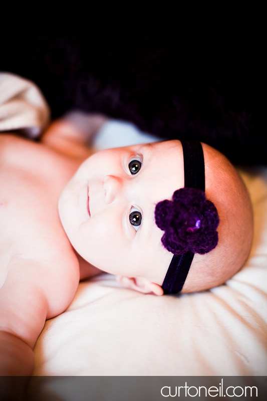 Sault Ste Marie Baby Photography - Madeline at 4 months - sneak peek