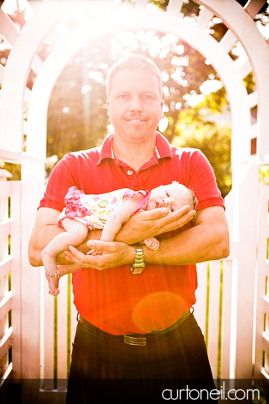 Sault Ste Marie Baby Photography - Baby and Dad
