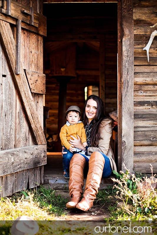 Sault Ste Marie Family Photography - Ashli and Binson - mom and son, farm, fall, gourd, pumpkin