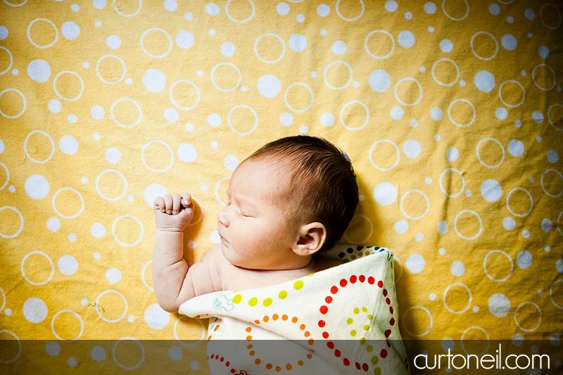 Sault Ste Marie Newborn Photography - Introducing Reese Penelope - newborn, football, baby