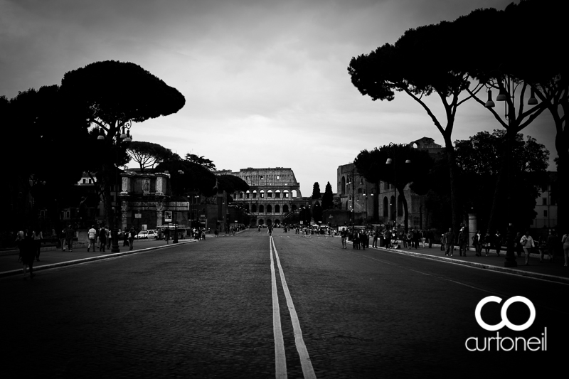 Road to the Colosseum - Pic of the Day - Curt O'Neil Photographer, Rome, Italy