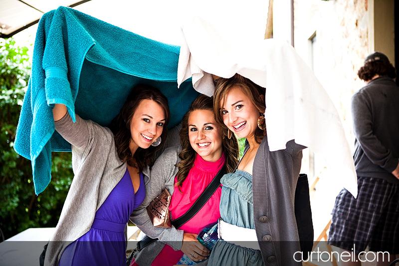 Tuscany Family Photo - McClelland - the sisters ready for their shoot at San Gimignano
