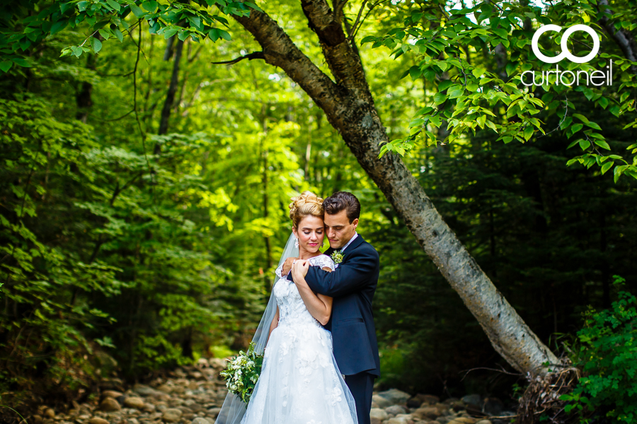 Sault Ste Marie Wedding Photography - Aimee and Greg - sneak peek, summer wedding at Crimson Ridge, creek bed