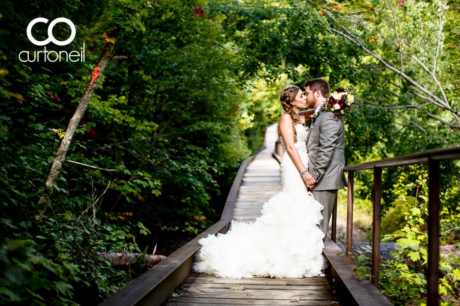 Sault Ste Marie Wedding Photography - Alex and Jon - sneak peek, Hiawatha Highlands, bridge