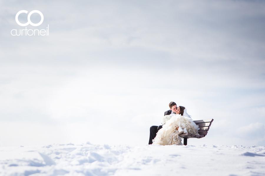 Sault Ste Marie Wedding Photography - Alyse and Mike - wedding sneak peek, winter, cold, Bellevue Park