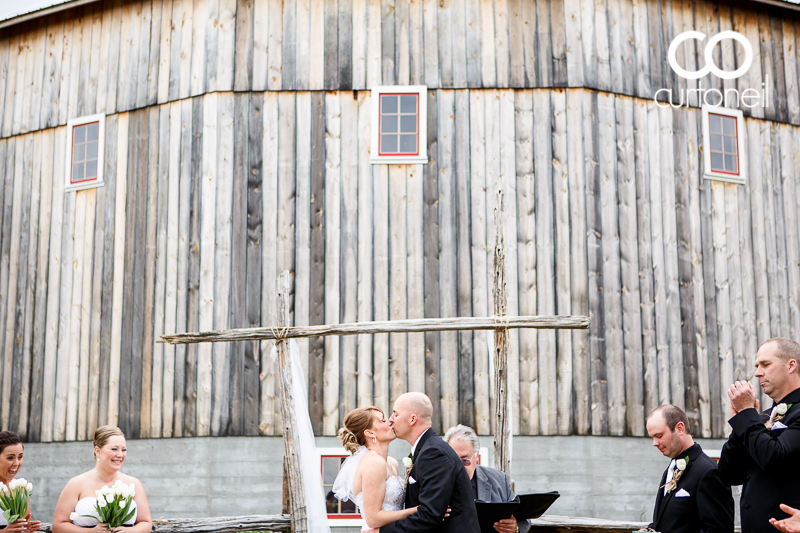 Sault Ste Marie Wedding Photography - Crystal and Matt - Round Barn, Sowerby, outdoor wedding, red truck, northern Ontario