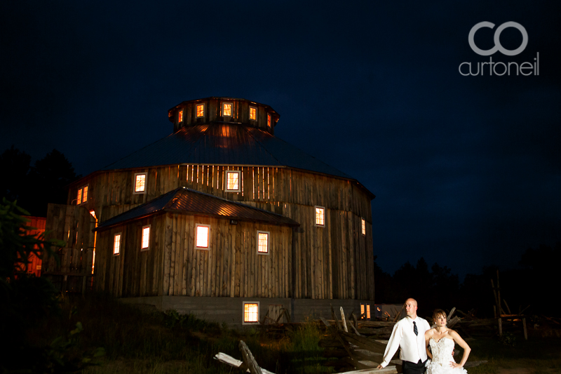 Sault Ste Marie Wedding Photographer - Crystal and Matt - Sowerby, round barn, night, sneak peek