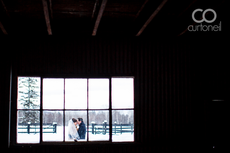 Sault Ste Marie Wedding Photography - Dana and Mike - sneak peek, New Year's Eve, winter, cold, Ebony Acres