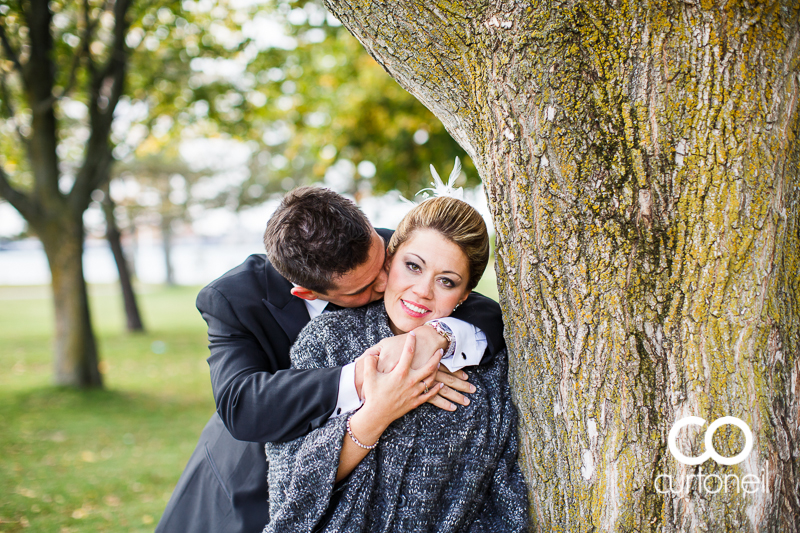 Sault Ste Marie Wedding Photography - Kerry and Dom - boardwalk, cold, fall, Marconi