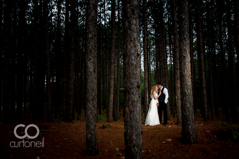 Sault Ste Marie Wedding Photography - Leah and Ryan - St. Joseph Island wedding sneak peek,  Island Springs golf course, pine trees