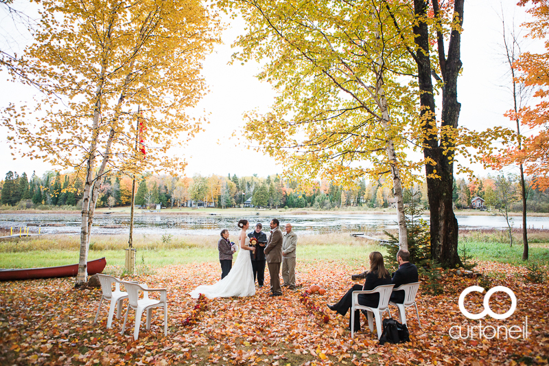 Sault Ste Marie Wedding Photography - Lisa and Hank - St. Joseph Island, fall, cold, outdoor wedding